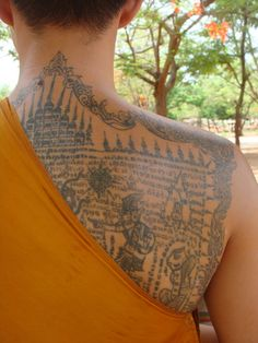 thai monk tattoo.