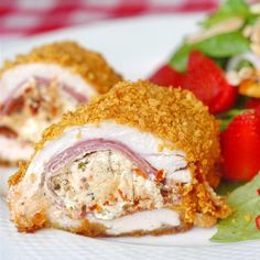 Goat Cheese and Capocollo Stuffed Chicken Breasts - Rock Recipes -The Best Food & Photos from my St. John's, Newfoundland Kitchen.