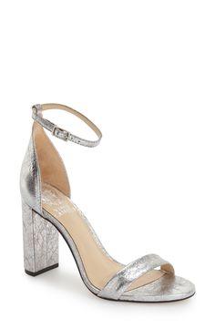 5e003532dd3e Vince Camuto  Mairana  Ankle Strap Sandal (Women) available at  Nordstrom  Metallic. Metallic SandalsHigh Heel ...