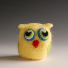 Needle felted pocket owl