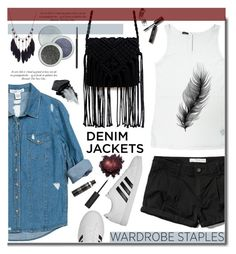 """""""Denim Jacket"""" by daizydarling ❤ liked on Polyvore featuring Abercrombie & Fitch, Sans Souci, adidas, Gorgeous Cosmetics and Bobbi Brown Cosmetics"""