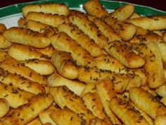 Slané tyčinky s kmínem Food And Drink, Birthday Parties, Bread, Chicken, Vegetables, Party, Anna, Finger Food, Birthday Celebrations