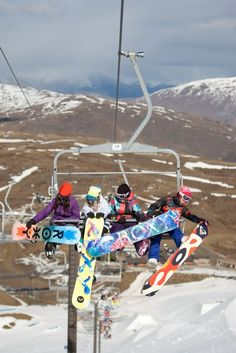Every time! The boards and skis always get tangled up!