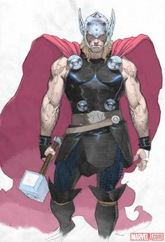 Thor: God of Thunder sketch by Esad Ribic    http://marvel.com/news/story/19861/thor_god_of_thunder_sketchbook_pt_2: