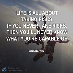Move out of your comfort zone, try to explore different things in life and be happy with them. #life #risk #quotes  What thing you've never tried before that you wanna try even just once in your life?