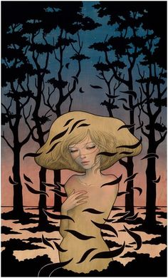 Japanese artist Audrey Kawasaki uses a variety of materials such as oil, ink and graphite to create these fantastic Art Nouveau-inspired paintings on wood. Audrey Kawasaki, Art And Illustration, Illustrations, Art Nouveau, Poesia Visual, Psy Art, Pop Surrealism, Japanese Artists, Fantastic Art