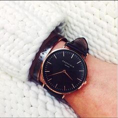 Be great with minimalism! And with our minimalist black watch, The Bowery. > www.rosefieldwatches.com