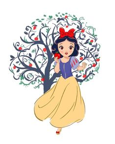 In honor of the film's anniversary, artists around the Walt Disney Company created Snow White and the Seven Dwarfs-inspired art in their own style. Disney Princess Snow White, Snow White Disney, Disney Princess Art, Disney Fan Art, Snow White Cartoon, Walt Disney, Cute Disney, Snow White Art, Snow White Drawing
