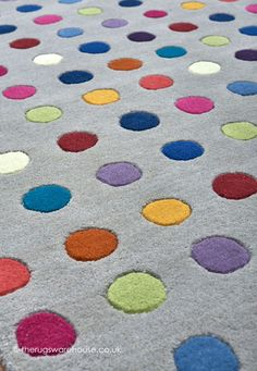 Funk Spotty Rug Texture Close Up A 100 Wool Hand Tufted