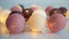 Ljusslinga 20 st bollar - Dusty pink 1 HemmetsHjarta