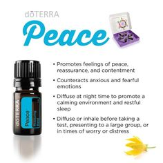 Peace - emotions essential oil. Works on your emotions - lifts and supports!