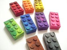 Lego crayons.  Love this, might need to either order these or try to make my own.