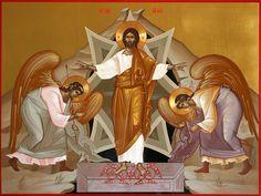 Cristo Resucitado - Resurrection of Christ Byzantine Art, Images Of Christ, Orthodox Christian Icons, Art, Ressurection, Christian Art, Sacred Art, Byzantine
