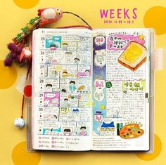 Hobonichi techo weeks - I really like this format