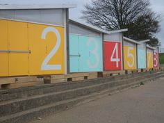 New beach huts at East Beach, Southend on Sea
