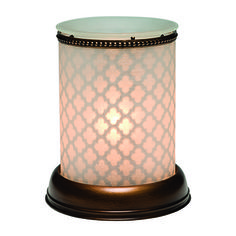 NEW Shadow Collection Warmer from Scentsy - FROSTED Shade with ABBEY Insert. Transform your room and delight your senses with this collection from Scentsy! Fill Your Life With Fragrance Safe and stylish Scentsy Warmers melt specially formulated wax Scentsy Bars with the heat of a low-watt light bulb or heating element, filling your space with fabulous fragrance.