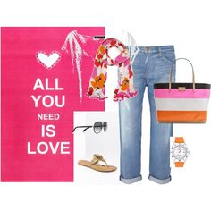 """""""Love pink and orange"""" by kateye on Polyvore"""