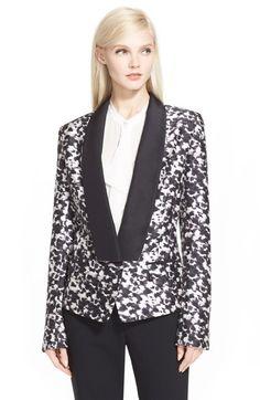 Rachel Zoe 'Reid' Print Silk & Wool Tuxedo Jacket available at #Nordstrom --- I just died