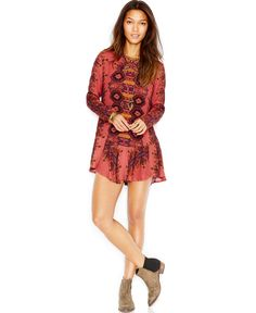 Free People Open-Back Printed Dress - Free People - Women - Macy's