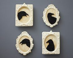 Gothic Halloween Raven Silhouette Sugar Cookie How-To