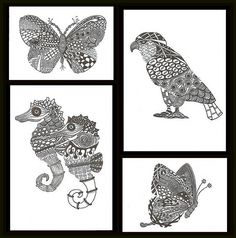 Zentangle Animal