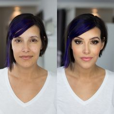 Before and after- glam look with Urban Decay, MAC, Tom Ford, Lipstick Queen and Chanel! Vivian Makeup Artist.