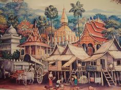 On The Other Side Of The Eye: [Steampunk] Decolonizing time: Lao history Laos, Thailand Art, Fun World, Thai Art, Mandala Drawing, Environment Concept Art, Culture, Art And Architecture, Asian Art
