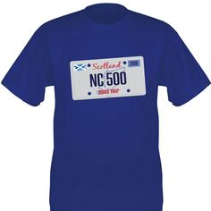 North Coast 500 Scotland Road Trip T-Shirt Print (Premium Heavyweight) T-Shirt featuring number plate design on front along with the Scottish flag and the 500 mile route outline North Coast 500 Scotland, Number Plate Design, Shirt Print, T Shirt, Scotland Road Trip, Outline, Printed Shirts, Flag, Mens Tops