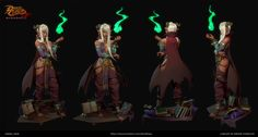 ArtStation - Battle Chasers Nightwar Fanart - Mercuri the Enchantress , Daniel Hiew