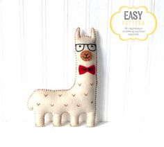 Iconic+and+ironic,+Hipster+Llama,+in+his+thick+rimmed+glasses+and+stylish+red+bow+tie,+is+the+epitome+of+trendiness+among+today's+urban+llamas.  This+easy+to+follow,+fully-illustrated+pattern+and+instruction+booklet+will+help+you+create+your+very+own+hand-embroidered+hipster+llama+in+no+time!  With+step-by-step+instructions+and+pictures,+learn+four+hand+embroidery+stitches.+Use+the+handy+shopping+list+to+gather+all+the+readily+available+supplies+you+will+need+to+bring+your+llamas+to+life...