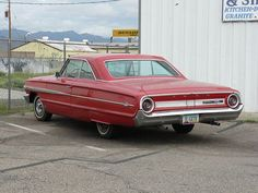 1964 Ford, Red Galaxie 500 2Dr. H.T.