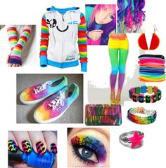 """rainbow"" by star-girl777 on Polyvore"