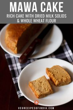 mawa cake recipe with step by step photos. rich & nutritious eggless mawa cake made with mawa (evaporated milk) and whole wheat flour/atta. Egg Free Recipes, Sweet Recipes, Cake Recipes, Dessert Recipes, Indian Desserts, Indian Food Recipes, Indian Sweets, Egg Free Cakes, Rich Cake