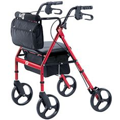 Elite Rolling Walker - Garnet Red | Shop Hugo Anywhere- I would bling it out if it meant I could start walking again. :-)