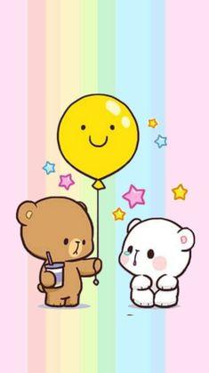 Cute Couple Wallpaper, Cute Disney Wallpaper, Kawaii Wallpaper, Cute Cartoon Wallpapers, Cartoon Girl Images, Cute Cartoon Pictures, Cute Couple Cartoon, Cute Love Cartoons, Cute Love Pictures