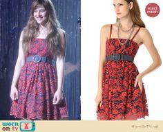 Layla's red lace dress on Nashville. Outfit Details: http://wornontv.net/19864 #Nashville #ABC