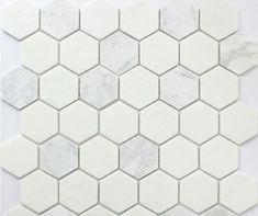12x12 Hexagon Carrara