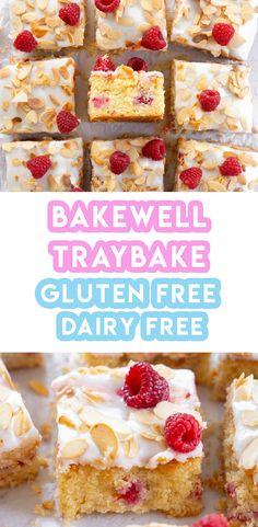 My Gluten Free Bakewell Traybake Recipe (dairy free) Here's my gluten free bakewell traybake recipe! It's also dairy free too. If you love that bakewell taste, then you will absolutely love this cake! Dairy Free Slice Recipes, Lactose Free Recipes, Fodmap Recipes, Gluten Free Cakes, Gluten Free Baking, Vegan Recipes, Bakewell Traybake, Traybake Cake, Bakewell Tart