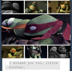 OW but aw Raph and Mikey are so cute. And this is how it works. Tmnt Turtles, Teenage Mutant Ninja Turtles, Tmnt Mikey, Usagi Yojimbo, Leonardo Tmnt, Tmnt Comics, Tmnt 2012, Cartoon Shows, Brother
