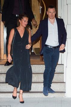 Michael Fassbender and Alicia Vikander leaving Nobu in NYC on July 22.