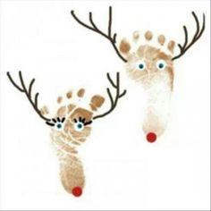 Faites-en des décorations de Noël! Encadrez-les, ressortez-les chaque Noël! Un beau souvenir de vos petits mousses que vous verrez trop vite grandir! Faites-en des cartes de Noël! Grand-papa et grand-maman trouveront bien drôle de voir les empreintes