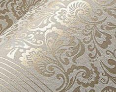 Vzorovaná textilná reliéfna tapeta na stenu v hnedej farbe Stencil, Rugs, Diy, Home Decor, Farmhouse Rugs, Decoration Home, Bricolage, Room Decor, Stenciled Table
