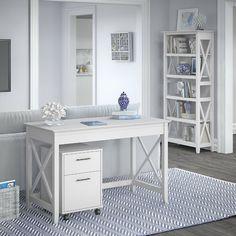 Beachcrest Home Cyra L Shaped Desk & Reviews | Wayfair Storage Sets, Desk Storage, 5 Shelf Bookcase, Shelves, Mobile File Cabinet, Best Desk, L Shaped Desk, Writing Desk, Home Office Decor