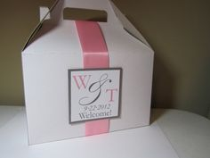 Gable Boxes with ribbon & monogram tag by JLDesigns718 on Etsy, $2.75