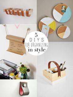 Urbanwalls Blog - 5 DIYS for organizing in style
