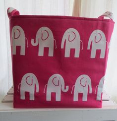 Items similar to Pink & White Elephants Home Decor Bed Sofa Throw Pillow Cushion Cover case on Etsy Elephant Home Decor, Elephant Pillow, Toy Bins, Home Decor Bedding, Sofa Throw, White Elephant, Storage Baskets, Sofa Bed, Paper Shopping Bag