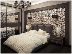 Bedroom design - 65 Inspiring Ideas For The Wall Behind Bed Bed Headboard Design, Modern Bedroom Design, Master Bedroom Design, Home Decor Bedroom, Interior Design Living Room, Living Room Designs, Bedroom Wall, Wall Behind Bed, Bedroom False Ceiling Design