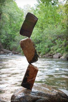 Incredible balancing stone by Michael Grab