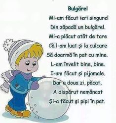 Poezii pentru copii: versuri frumoase și haioase dedicate juniorilor! Kindergarten Activities, Preschool Activities, Animal Masks For Kids, Christmas Poems, Kids Poems, Winter Kids, Kids Reading, Worksheets For Kids, Raising Kids