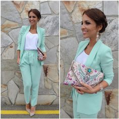 Traje Dolores Promesas Heaven de Paula Echevarría Mom Outfits, Dress Outfits, Summer Outfits, Casual Outfits, Cute Outfits, Suit Fashion, Look Fashion, Fashion Outfits, Outfit Bautizo
